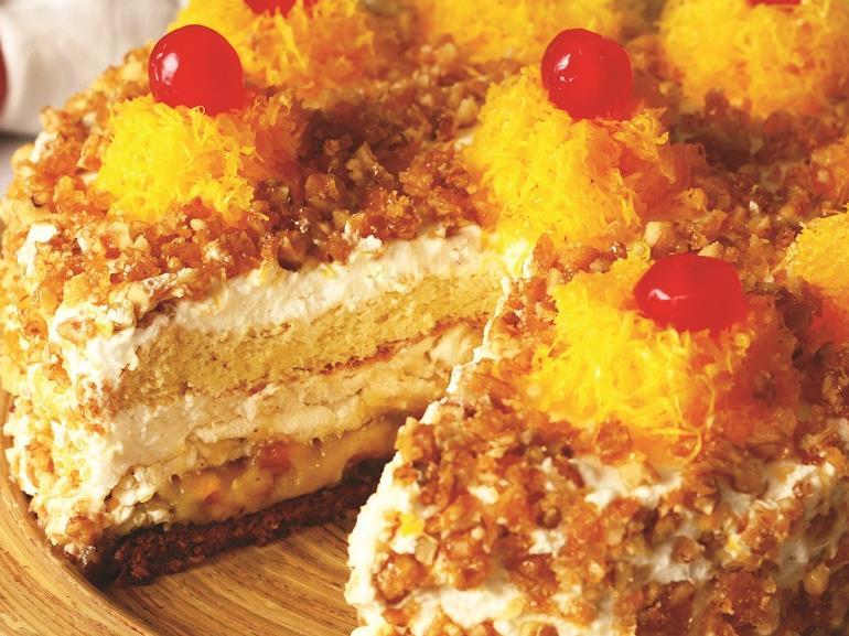 bolo amarelo - feito de coração para a sua família